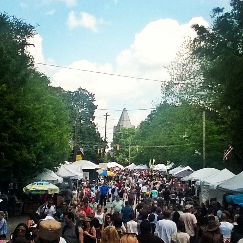 Looking down Edgewood Ave during the Inman Park Festival.
