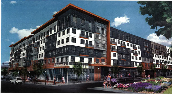 A rendering of the proposed development. Via ATL Urbanist.