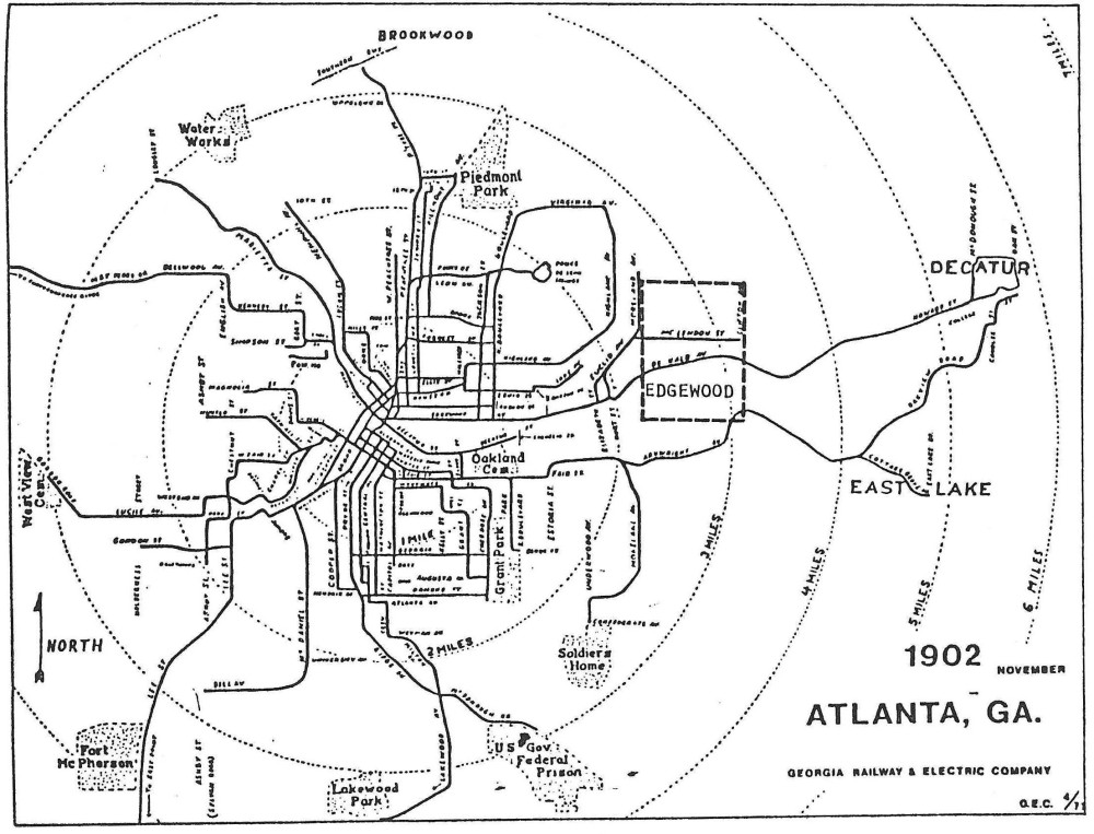 Atlanta, like most other American cities, had a competitive streetcar market over a hundred years ago.