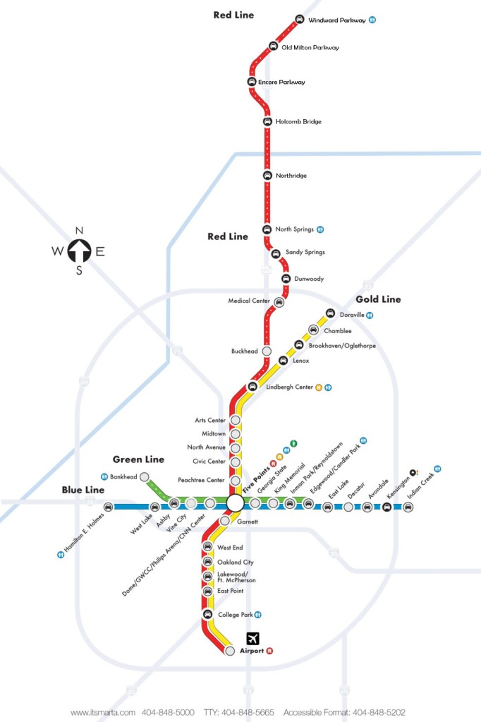 The proposed expansion to MARTA's northern red line.