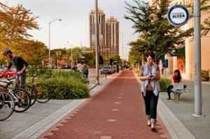 The Indianapolis Cultural Trail, a $63 million foot/bike path spanning 8 miles and connecting 5 distinct neighborhoods and cultural districts.